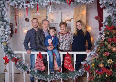 Семейная фотосъемка на новый год