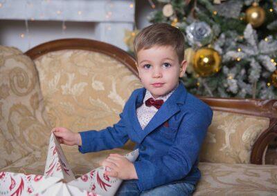 Фотосессия ребенка на новый год